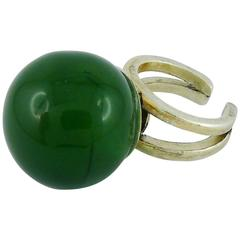 Jean Paul Gaultier Vintage Green Ball Ring