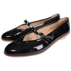Ferragamo Audrey Shoes in Black Patent Leather