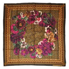 "Adrienne Vittadini ""Limited Edition"" ""Multi-Floral"" Silk Scarf"
