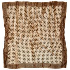 Beige Border with Small & Micro Square Silk Scarf