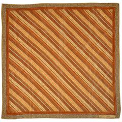 "Anne Klein ""Warm Shades of Browns"" Silk Scarf"
