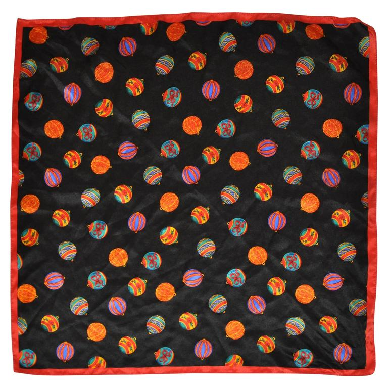 """""""Collections of Christmas Balls"""" Silk Scarf"""