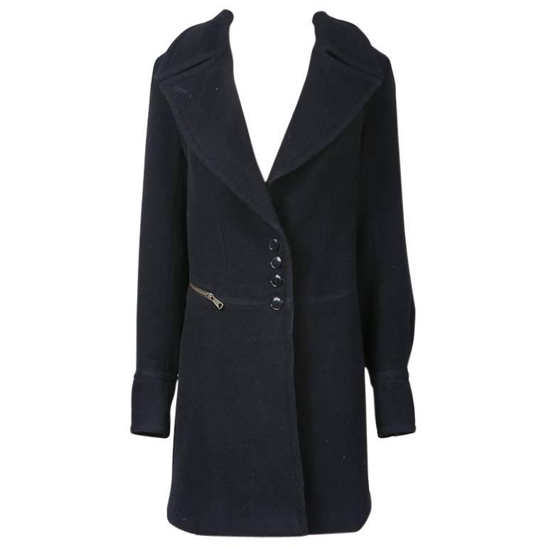 Alaia Wool Coat circa 1990s 1