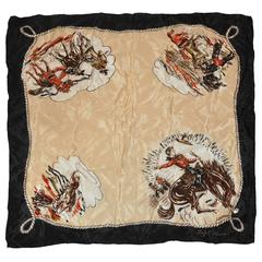 "Ralph Lauren ""Ranch Cowboys"" Silk Scarf"