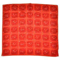 "Vera ""Squares & Circles with Creatures"" Silk Scarf"
