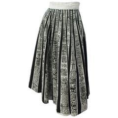 50s Aztec Print Skirt