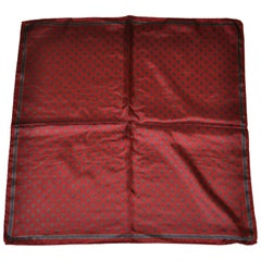 Ashear Deep Burgundy with Tiny Palsey Men's Silk Hankerchief