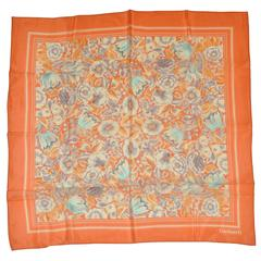Cacharel Tangerine Floral Scarf