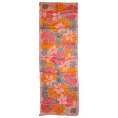 "Vera Bold Multi Gray, Rose, Pinks & Tangerine ""Floral"" Scarf"