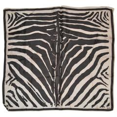 Vera Fawn & Black Zebra Stripe Silk Scarf