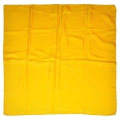 Bold Double-Layered Yellow Silk Jacquard Scarf