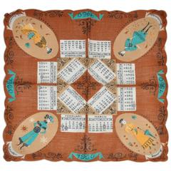 """1960"" Calendar Cotton Handkerchief"