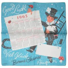 """1963"" Calendar Cotton Handkerchief"