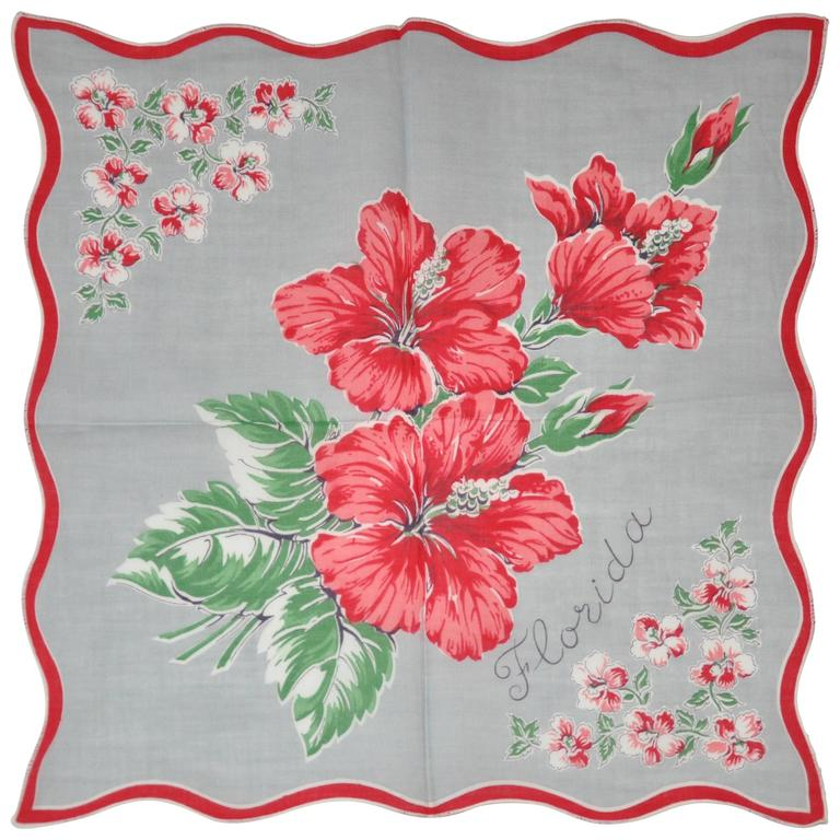 """Florida"" Floral Cotton Handkerchief"