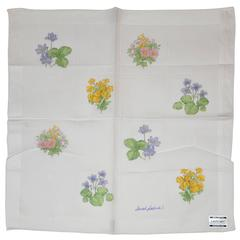 "Sarah Lelines Hand-Stitched 100% Cotton ""Floral Collection"" Handkerchief"