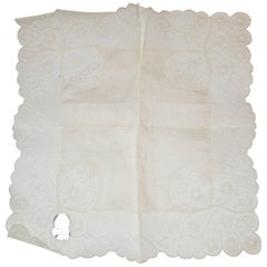 Austria 100% Linen Hand-Knotted Hand-Made Lace Handkerchief