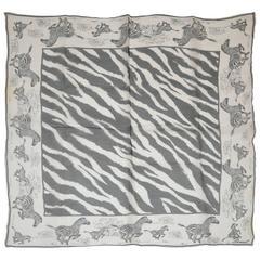 """Burmel Black & White """"Running Zebras"""" Scarf"""