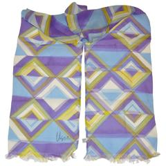 Vera Shades of Lavender and Purple Double Layered Fringed Scarf