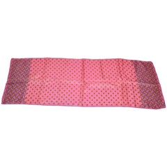 "Burmel Pink ""Floral with Multi Floral Border"" Rectangle Scarf"