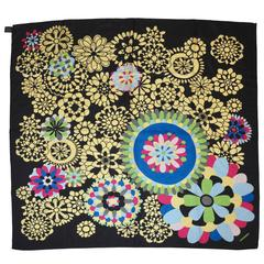 Missoni Multi-Color Color-Block Floral Silk Jacquard scarf