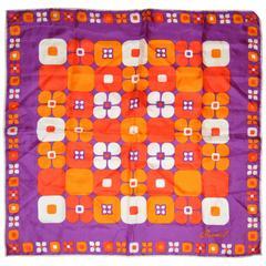 Bermel Color Block of Purple, Tangerine, Orange and Reds Scarf
