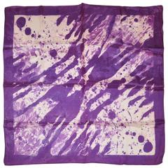 "Purple, Violet & White ""Tie Dye"" Style Scarf"