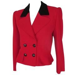 valentino red short jacket