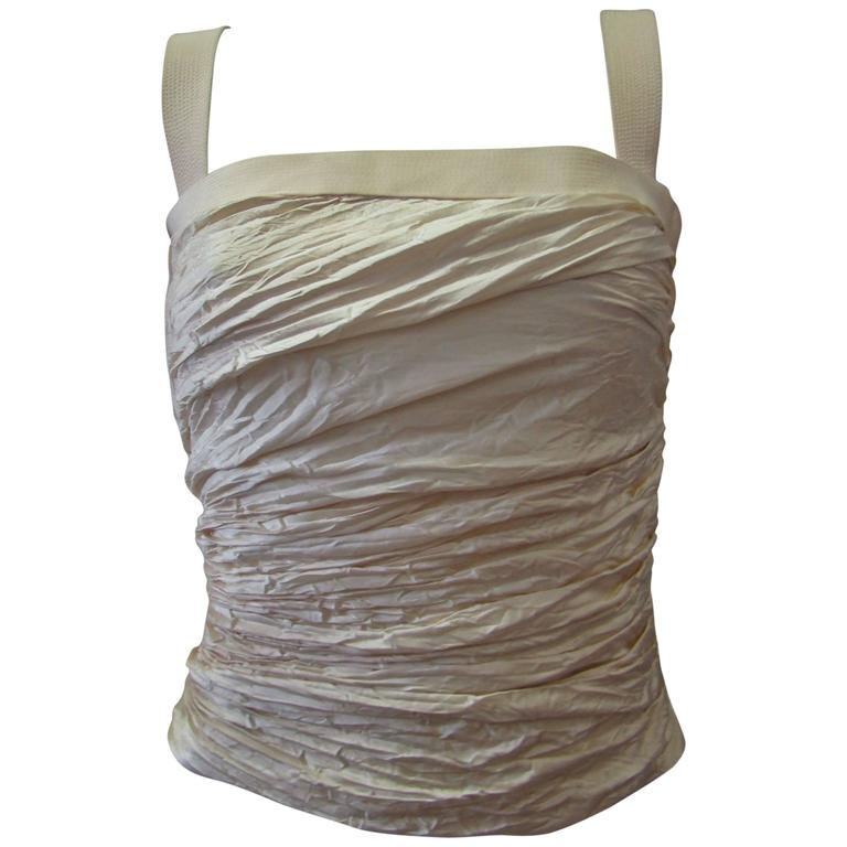 Rare Gianni Versace Couture Silk Ruched Bustier Spring 1994