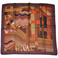 "Liberty of London ""Multi Shades of Autumn"" Multi-Pattern Silk Scarf"