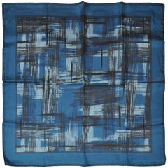 Shades of Blue & Black Men's Silk Handkerchief