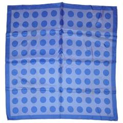 Vera for Bonwit Teller Lavender & Blue Polka Dots Silk Scarf