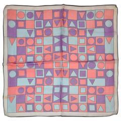 "Bold Multi-Colors ""Triangle & Circles"" Scarf"