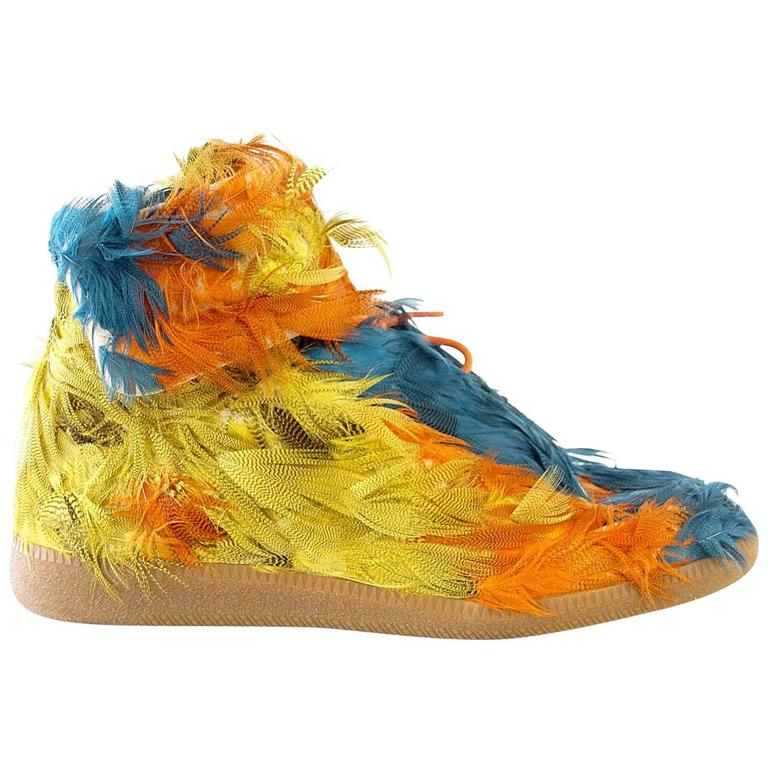 Maison Martin Margiela Future Duck Feather HighTop Sneaker  43 /10 1