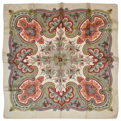 """Majestic Detailing """"Floral Palsey"""" Silk Scarf"""