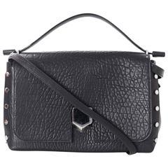 Jimmy Choo NEW Black Grainy Medium Lockett Bag rt. $2,495