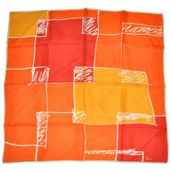 Vera Bold Tangerine, Orange & Red Scarf