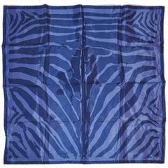 Vera Lavender & Violet Leopard Stripe Handkerchief