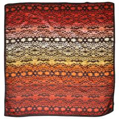 "Nicole Miller Multi ""Autumn Shades"" Silk Scarf"