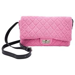 Chanel Pink Tweed Reissue Crossbody Flap Bag