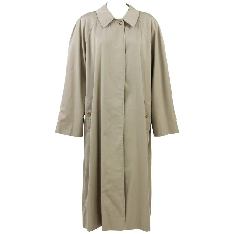 1990s Burberry Beige Cotton Trench Coat
