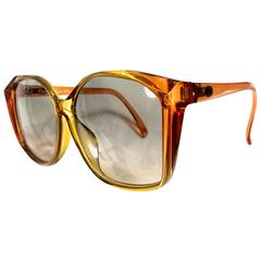 Vintage Christian Dior orange and yellow sunglasses. Very rare retro piece.