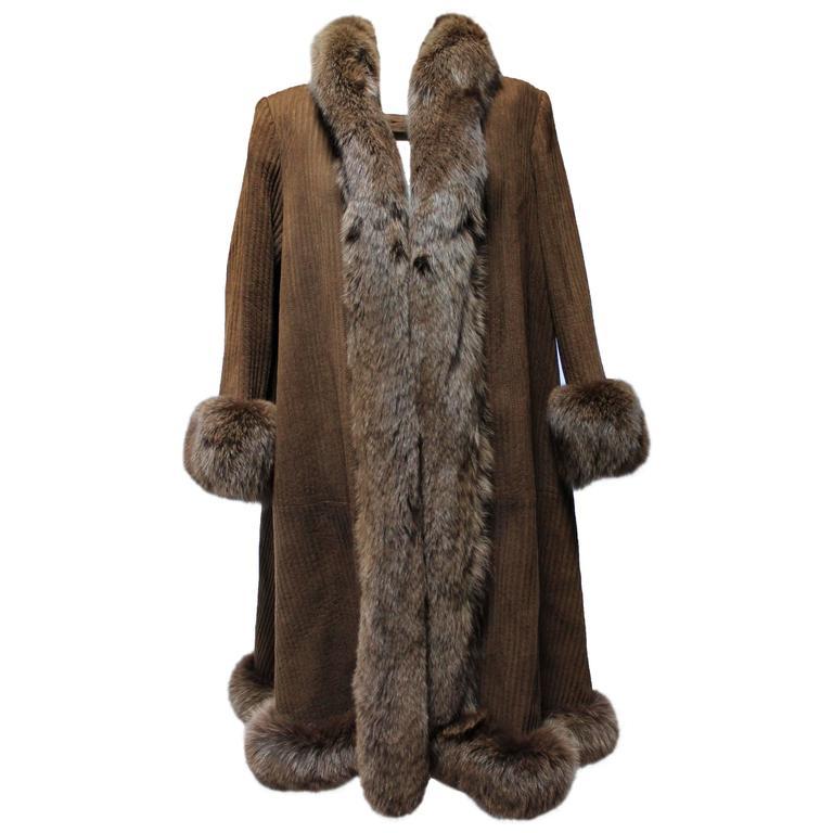 1990s Valentino Brown Fox And Reindeer Fur