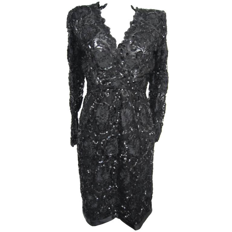Yves Saint Laurent Patron Original Paris Haute Couture evening Dress For Sale
