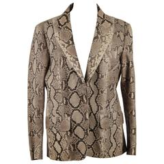 GUCCI TOM FORD Era Beige PYTHON Leather BLAZER Jacket SIZE 40