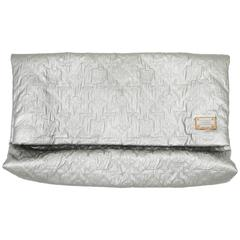 Louis Vuitton Metallic Monogrammed Limelight Gm Silver Clutch
