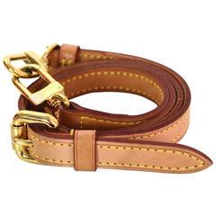 Louis Vuitton Tan Vache Leather 16mm Shoulder Strap