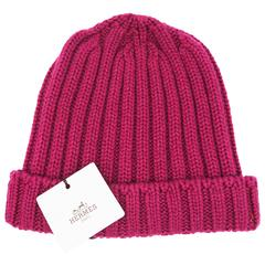 Hermes Rose Cashmere Hat