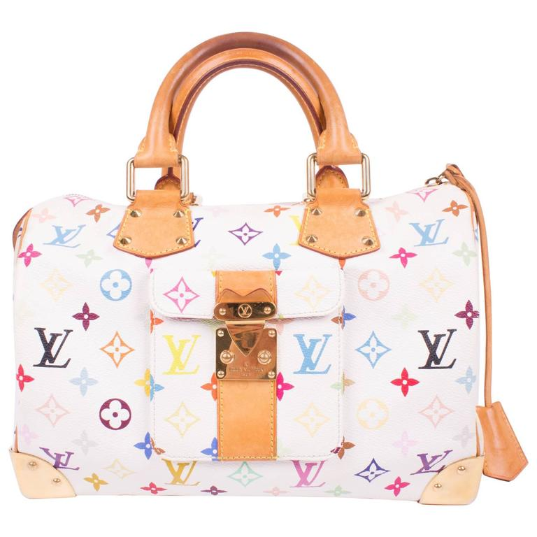a8a048c6755 Louis Vuitton Speedy 30 Murakami Multicolor Monogram Canvas - white