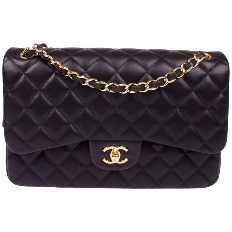 af32e24a765153 Chanel Timeless Classic Double Flap Bag Jumbo - black leather - new! For  Sale