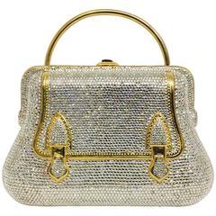 Judith Leiber Collectible Structured Handbag Minaudiere W Swarovski Crystals